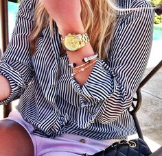 I really like the gold watch/Yurman & Others bangle stacking look.    Cape Cod Collegiate