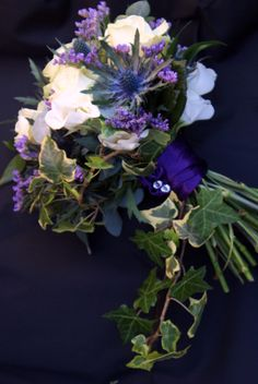 Rustic winter wedding bouquet by Zoe at www.dragonflyblooms.co.uk
