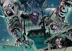 "jackdaviesart: ""New Evil Dead 2 artwork for Oliver Harper's retrospectives and reviews. Review coming soon. """