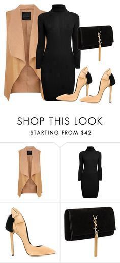 """TAN x BLACK"" by samstyles001 on Polyvore featuring Rumour London, Aleksander Siradekian and Yves Saint Laurent"