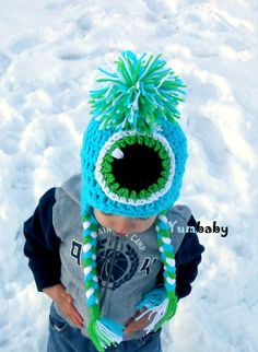 Baby Hats Monster Hat Beanie with Earflaps Toddler Boy Clothes Kids Hats.