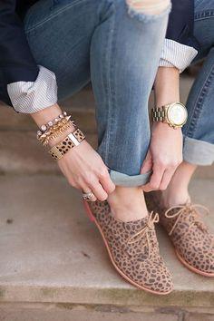 Street Style   Sapato oxford de oncinha