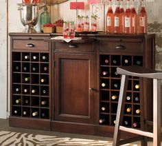 Wine cabinet to replace the desk