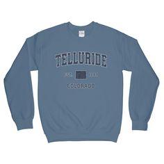 Telluride Colorado CO Sweatshirt Athletic Sports Design (Unisex)