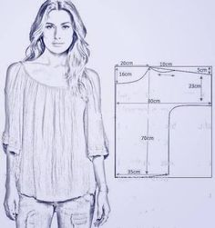 Trendy Sewing Blouse Pattern Free Costura Source by ideas sewing Dress Sewing Patterns, Sewing Patterns Free, Free Sewing, Sewing Tutorials, Clothing Patterns, Shirt Patterns, Sewing Crafts, Diy Crafts, Blouse Pattern Free