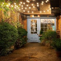 """24 Jaw Dropping Beautiful Yard and Patio String Lighting Ideas For a Small Heaven - """"Freemans"""" restaurant in NYC at the end of Freeman Alley, off Rivington, between The Bowery and Christie. Backyard Lighting, Patio Lighting, Landscape Lighting, Lighting Ideas, Lighting Design, Outdoor String Lighting, Cafe Lighting, Event Lighting, Exterior Lighting"""