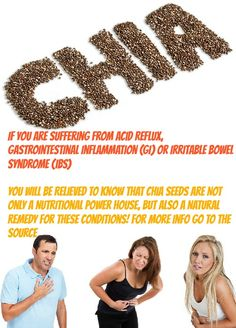 One Of The Amazing Benefits Of Chia Seeds Is Improving Digestive Health. It Is A Great Remedy For Acid Reflux, GI and IBS
