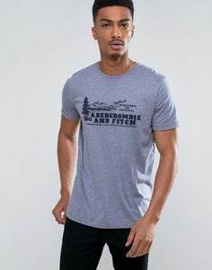 Get this Abercrombie & Fitch's fit t-shirt now! Click for more details. Worldwide shipping. Abercrombie & Fitch Slim Fit T-Shirt with Logo in Blue - Blue: T-shirt by Abercrombie Fitch, Soft-touch jersey, Crew neck, Printed design, Short sleeves, Regular fit - true to size, Machine wash, 60% Cotton, 40% Polyester, Our model wears a size Medium and is 187cm/6'1.5 tall. The modern Abercrombie Fitch is the next generation of effortless All-American style. The essence of laidback sophistication…