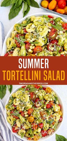 An Easy Summer Tortellini Salad Perfect For Your Summer Picnics Ready In 25 Minutes, This Cold Pasta Salad Is Best Served With Your Summer Bbqs. Simply Don't Forget The Basil Vinaigrette Dressing Include This Recipe In Your Summer To Do List Pasta Salad With Tortellini, Summer Pasta Salad, Summer Picnic Salads, Summer Lunch Menu, Cold Pasta Salads, Cold Pasta Dishes, Best Summer Salads, Healthy Summer Recipes, Vegetarian Recipes