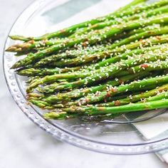 Grilled Soy-Sesame Asparagus Pan Fried Asparagus, Asparagus Side Dish, Grilled Asparagus Recipes, How To Cook Asparagus, Healthy Sides, Healthy Side Dishes, Side Dish Recipes, Easy Recipes, Healthy Recipes