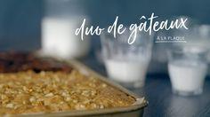 Duo de gâteaux à la plaque Quebec, Sheet Pan, Deserts, Plaque, Pudding, Baking, Sauces, Foodies, Cupcakes