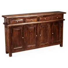 Check out this item at One Kings Lane! Sara 4-Door Cabinet, Pecan