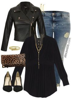 Plus Size Black Layers Outfit - Plus Size Fashion for Women - alexawebb.com