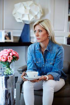 Off-Duty Denim on Marie Chantal of Greece