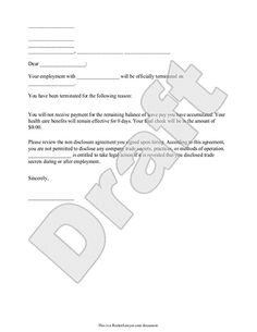 Termination paperwork in ontario