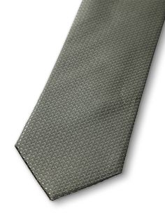 VEILHAN TIE-Men's tie in pure silk. Features all-over seasonal print and woven structure with micro dot pattern, Tiger of Sweden logo on lining. Width: 7 cm.