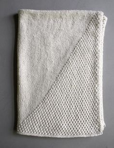 Purl Bee's Cozy Corner Crib Blanket, with a note on how to increase the size, if you prefer.