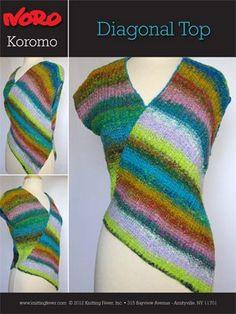 Free Pattern Koromo Diagonal Top (N1002) knitting fever