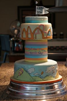"""Grad Cake for Rachel """"Oh the place you'll go"""""""