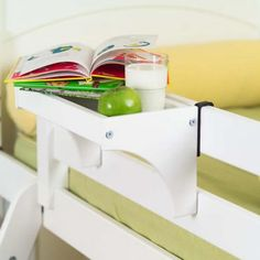 Perfect shelf idea for Joshua's bed - top bunk