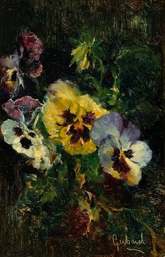 Viooltjes, Paul Joseph Constantin Gabriel. Dutch (1828 - 1903)
