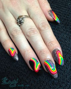 Intergalactic Rainbow #nail #nails #nailart