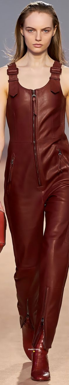 Salvatore Ferragamo Fall 2020 RTW Source by margaritapaysal outfit fall Brown Fashion, All Fashion, Leather Fashion, Fashion Outfits, Womens Fashion, Fashion Brands, Holly Fulton, Leather Catsuit, Oxblood