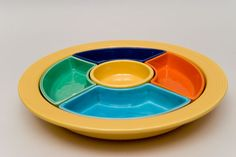 fiestaware | ... fiestaware-lazy-susan-yellow-red-turquoise-green-cobalt-fiestaware-for