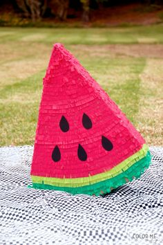 Color Me Meg Summer Fruit Watermelon Pinata, Watermelon Party Ideas Watermelon Day, Watermelon Birthday Parties, 2nd Birthday Parties, Birthday Ideas, Birthday Pinata, Diy Party, Party Ideas, Diy Ideas, Craft Ideas