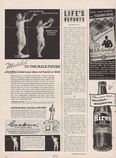 1941 Coopers Jockey Men Male Underwear Boxer Brief Basketball Golf Vtg Ad  A1009  d3fc05e8938c0