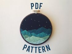 how to make hand embroidery patterns Diy Embroidery Patterns, Hand Embroidery Patterns, Embroidery Kits, Cross Stitch Embroidery, Paper Embroidery, Machine Embroidery, Pattern Floral, Pastel Pattern, Diy Broderie