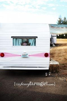 cowgirl campout My 1959 fireball vintage travel trailer and vintage ford truck  #pink #cowgirl #party