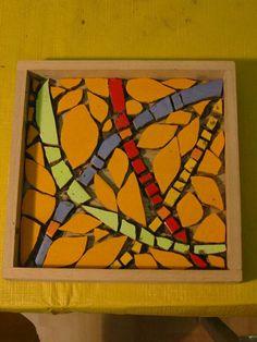 """Susannes """"Welt"""", ein Mosaik Bild intuitiv in der  Direkten Methode. Mosaik Workshop bei mosaicked-berlin."""