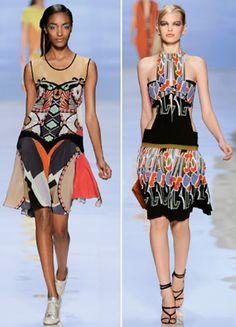 #aztec #women #elle #fashion #trend #colors #print #allover #inspiration #catwalk