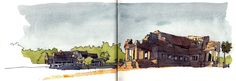All the sketches from my Cambodia Sketching Trip 2014 | Parka Blogs