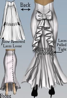 Adjustable Pulled Bustle Victorian Skirt by Amber Middaugh 2015 #Steampunk #Design #Victorian #Pattern