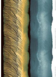 Kuuskajaskari -pellavakangas - Marimekko Marimekko Fabric, Types Of Curtains, Rod Pocket Curtains, Fabric Shop, Textile Artists, Grey Yellow, Blue, Light Beige, Large Prints