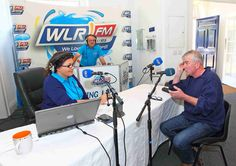 Wlrfm (Official) presenter Maria McCann chats with Jim Nolan on Deise AM on WLR FM www.noelbrownephotographer.com — at Garter Lane Arts Centre.