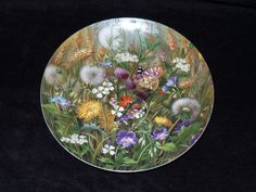 """1991 Furstenberg Wild Beauties """"By the Cornfield"""" Collector Plate by Hans Grab by ThePlateHutchII on Etsy"""