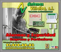 Alarmas y seguridad para viviendas y empresas, #alarma #seguridad #antenasvillalba