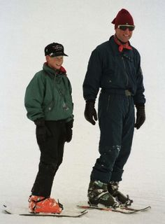 January 04, 1997: Prince Harry enjoying a ski holiday with his father Prince Charles in Klosters.(x)