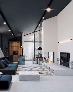 50 stunning modern home interior design ideas Informations About 50 Stunning Modern House Design Interior Ideas – Trendehouse Pin You … Modern Mansion Interior, Modern Home Interior Design, Modern House Design, Interior Architecture, Interior Ideas, Modern Houses, Luxury Interior, White House Interior, Small Houses