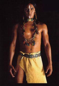 Native Model Rick Mora, Yaqui and Apache of Mestizo Descent