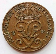 1931 SWEDEN All Currency, Old Coins, Coin Collecting, How To Get Money, Sweden, Objects