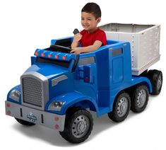 Kids Ride On Toys, Toy Cars For Kids, Kids Toys, Toys For Boys, Baby Toys, Electric Semi Truck, Electric Cars, Popular Toys, Toy Trucks