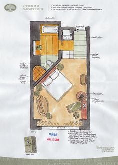 Parkview Hotel layout – Dong Guan, China – Damian Luiten – Join the world of pin Bedroom Layouts, House Layouts, Hotel Portugal, Hotel Floor Plan, Deco Studio, Hotel Room Design, Apartment Layout, Hotel Interiors, Room Planning