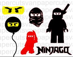 Handmade Ninjago Lego Inspired Digital cut file .jpeg  cameo, silhouette, cricut machines  INSTANT DIGITAL DOWNLOAD by papercutsvan on Etsy https://www.etsy.com/listing/253131365/handmade-ninjago-lego-inspired-digital