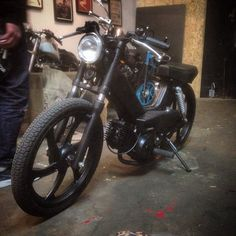 Tomos custom dropped cafe races by Deathwish Company Amsterdam