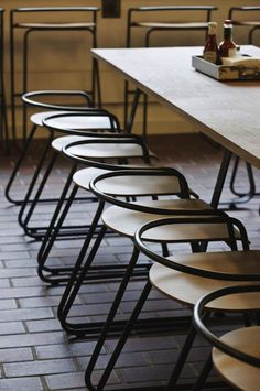 barbican centre restaurant / food market. furniture by stefan bench