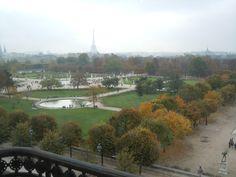 A view of Paris from la Musée des Arts Décoratifs